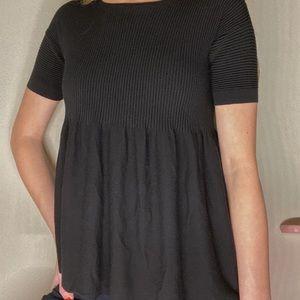 Black flare tshirt